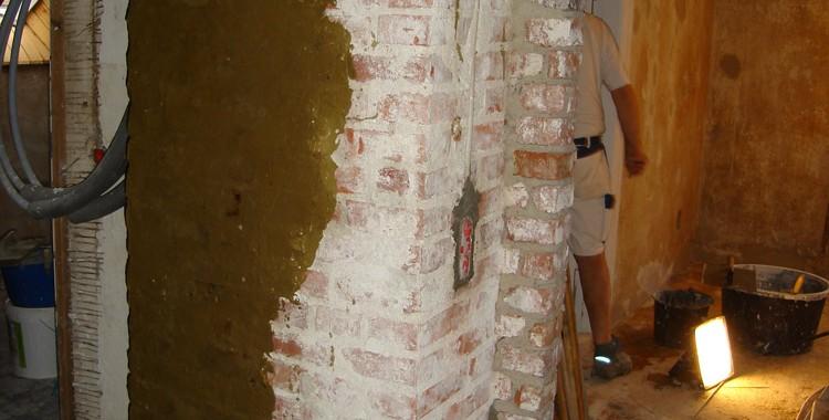 Renovering af skorsten med løbesod